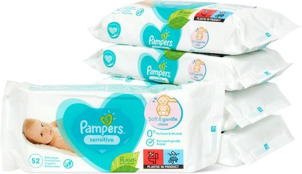 Pampers Pampers Sensitive Feuchttücher 5x52 Stück