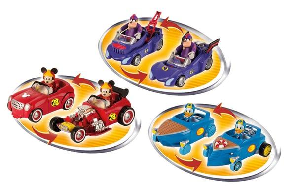 Mickey and the roads Fahrzeug und Figur