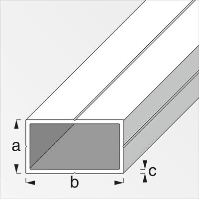 alfer Tube carré 15.5 x 27.5 brut 1m