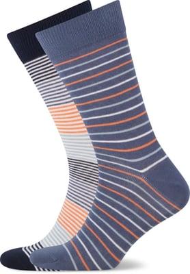 John Adams Herren Socken Stripes 2er Pack