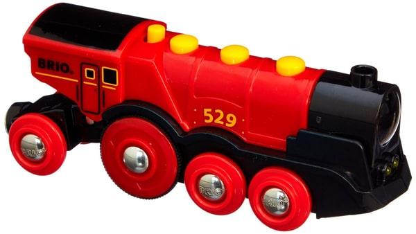 BRIO Locomotiva rossa e potente a pile (FSC)