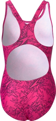 Speedo Boom Allover Splashback Mädchen-Badeanzug