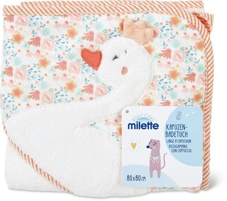 Milette Asciugamano con cappuccio, 80 x 80 cm