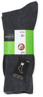 BIO HERREN SOCKEN TOP COMFORT 3ER PACK anthrazit
