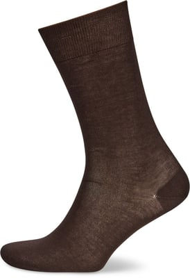 HERREN SOCKEN MERCERIZED 2ER PACK d'braun