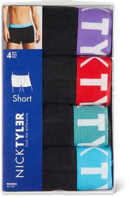 MEN S SHORT 4ER PACK schwarz