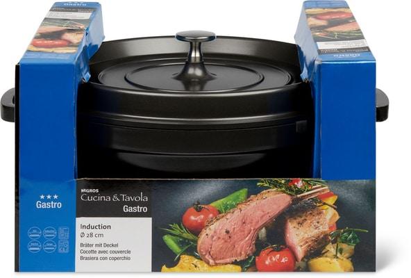 Cucina & Tavola GASTRO Cocotte avec couvercle 28cm