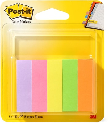 3 M / Post It Index 5 x 100 pièces