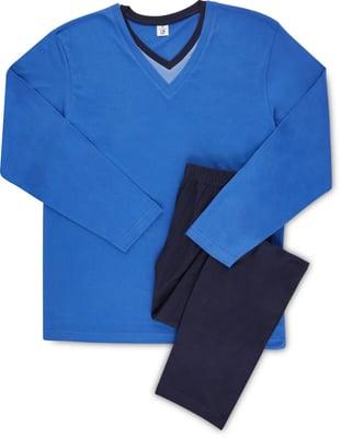Pyjama Bio Cotton V-Neck, uni