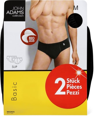 MEN'S SLIP DUO BASIC BIO schwarz