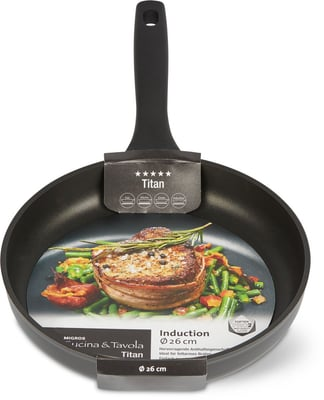 Cucina & Tavola Bratpfanne 26cm flat TITAN