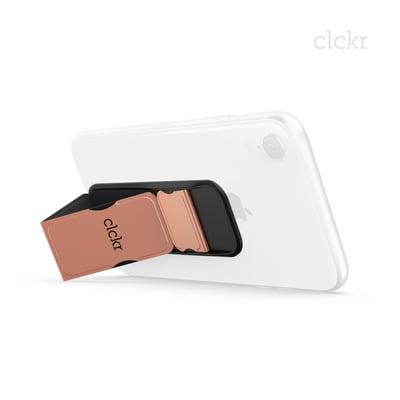 CLCKR Universal Grip Band Size S metallic Rose Halterung