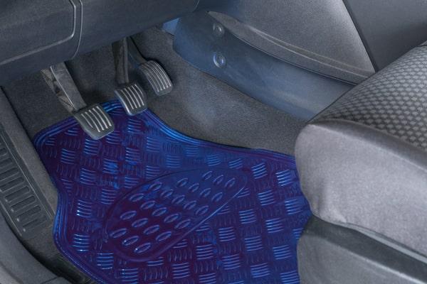 Miocar Set bleu métallisé Tapis de voiture
