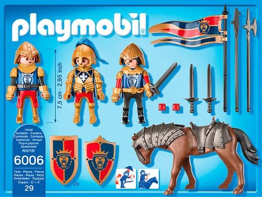 PLAYMOBIL Knights Squadra esplorativa dei Cavalieri del Leone 6006