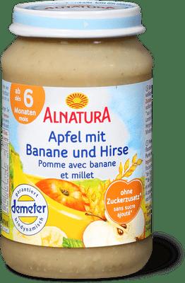 Alnatura Pomme avec banan et millet