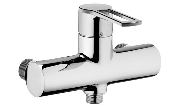 Miscelatore ad incasso monocomando per doccia bagno monoforo