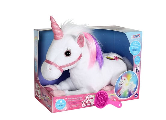Unicorno 35cm con luce e suono