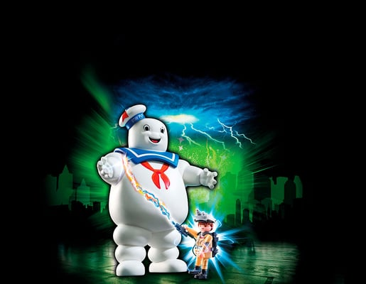 Playmobil Ghostbusters Bibendum Chamallow et Stantz 9221