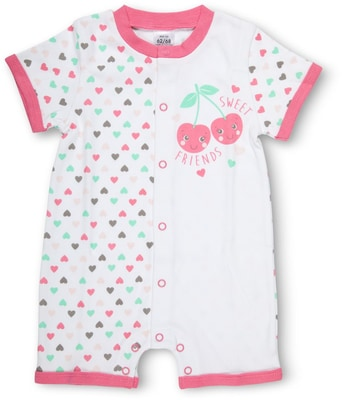 BABY OVERALL KURZARM pink