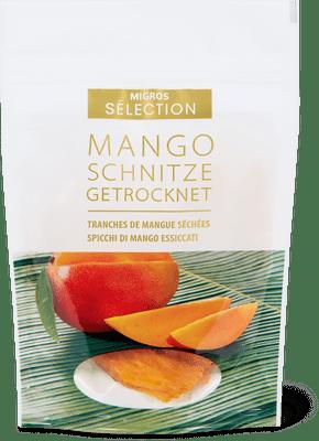 Sélection tranches de mangue séchées