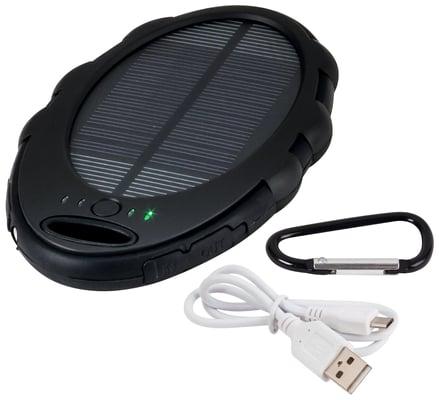 Steffen SunPower power bank solaire avec lampe de poche LED
