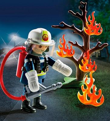 Playmobil Special Plus Pompiere con albero in fiamme 9093