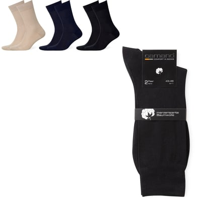 CAMANO HERREN SOCKEN BUSINESS 2ER PACK sand