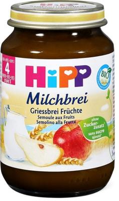Bio HiPP Gute Nacht Griessbrei Früchte