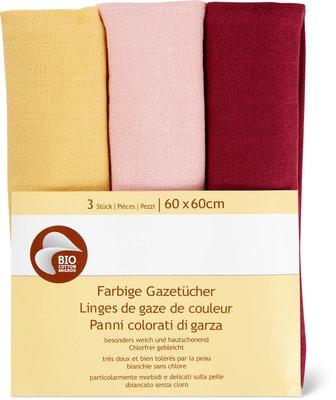 Bio Cotton Gazetücher farbig 60x60cm