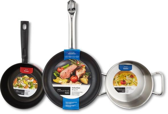 Séries d'ustensiles de cuisson Gastro et Prima