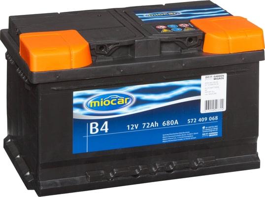 miocar batterie de voiture b4 12v 72ah 680a migros. Black Bedroom Furniture Sets. Home Design Ideas