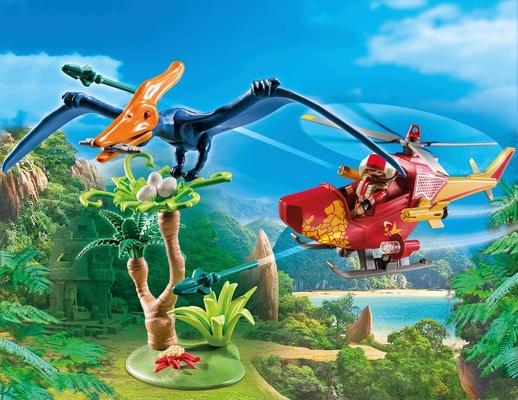 Playmobil Helikopter mit Flugsaurier
