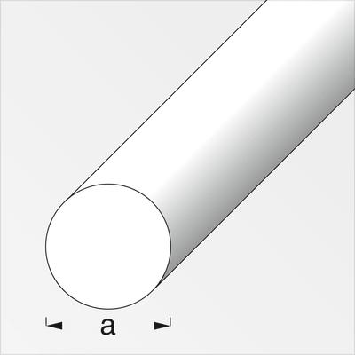alfer Rond plein 4 mm argent 1 m