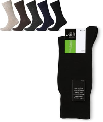 John Adams Herren Socken Cotton & Wool 1er Pack