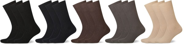 CHAUSSETTES HOMMES COMFORTABLE 3-PRS anthracite