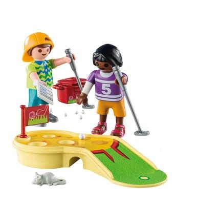 Playmobil Kinder beim Minigolfspiel