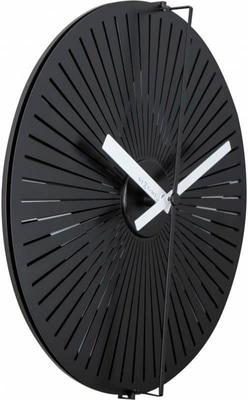 NexTime Horloge murale Kinegram Star Noir / Nous Horologe murale