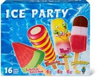 Glaces à l'eau Ice Party en emballage spécial