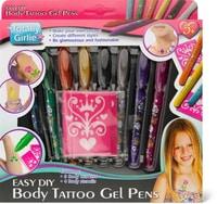 8 stylos pour le corps avec 4 pochoir