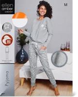 Pyjama Ellen Amber pour femme, gris, Bio Cotton