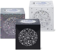 Linsoft Kosmetiktücher Würfel Hologramm im 3er-Pack
