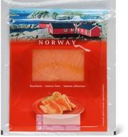 Petits emballages de saumon fumé, sauvage ou d'élevage