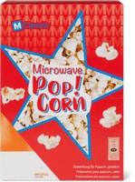 Tortilla Chips et Corn Strips ainsi que pop-corn pour micro-ondes, M-Classic, en emballages spéciaux