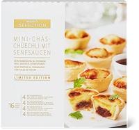 Mini tortine al formaggio con salse di senape Sélection