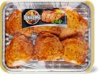Hauts de cuisses de poulet épicés Optigal, en barquette alu