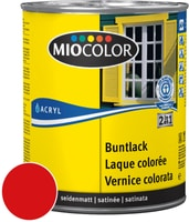 Miocolor Acryl Buntlack seidenmatt Feuerrot 125 ml