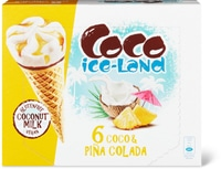 Coco Ice-Land cornet Pina colada