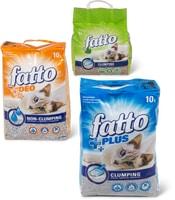 Tout l'assortiment de litières pour chat Fatto