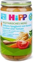 HiPP Spaghettis au blé complet avec carottes, courgettes et tomates