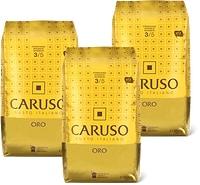Caffè Caruso Oro, in chicchi o macinato, in conf. da 3, UTZ